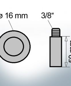 Bolt-Anodes 3/8'' Ø16/L50 (Zinc) | 9122