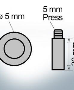 Bolt-Anodes 5 mm Press Ø5/L30 (Zinc) | 9156