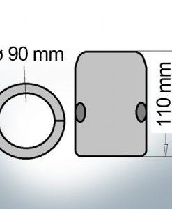 Shaft-Anode with metric inner diameter 90 mm (AlZn5In)   9014AL