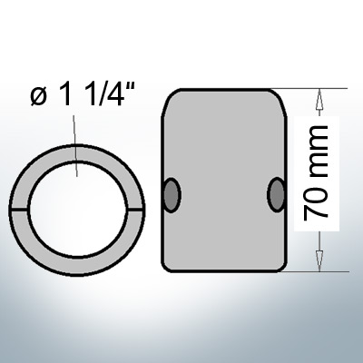 Shaft-Anodes with imperial inner diameter 1 1/4'' (Zinc) | 9017