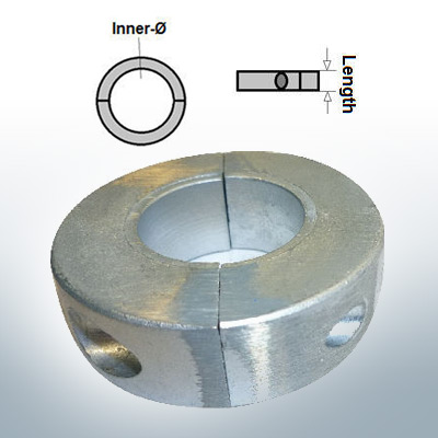 Shaft-Anode-Rings with metric inner diameter 25 mm (Zinc) | 9032
