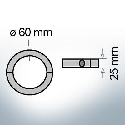 Shaft-Anode-Rings with metric inner diameter 60 mm (AlZn5In)   9039AL