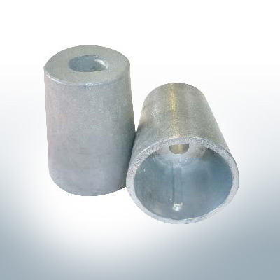 Shaftend-Anodes conical with retainer key 35 mm (Zinc) | 9439